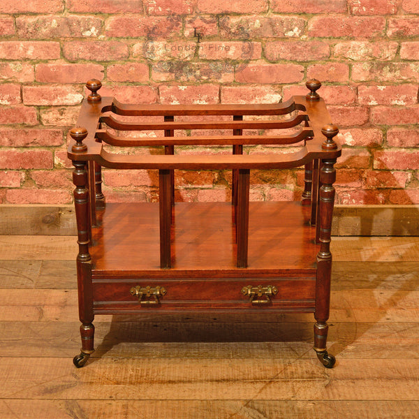 Victorian Mahogany Canterbury, c.1850 - London Fine Antiques - 2