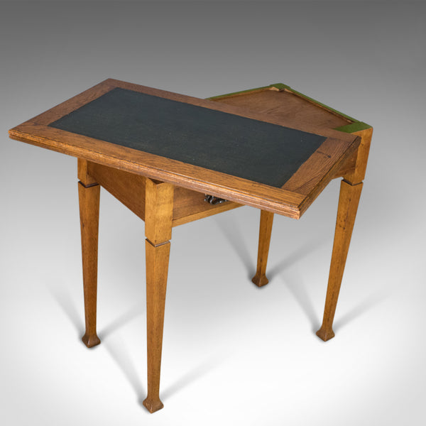 Antique Card Table, English, Arts and Crafts, Fold-Over Games Table, Circa 1915 - London Fine Antiques