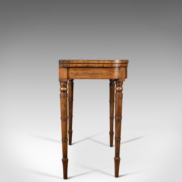 Antique Card Table, Late Georgian, English, Fold-Over, Games, Circa 1820 - London Fine Antiques