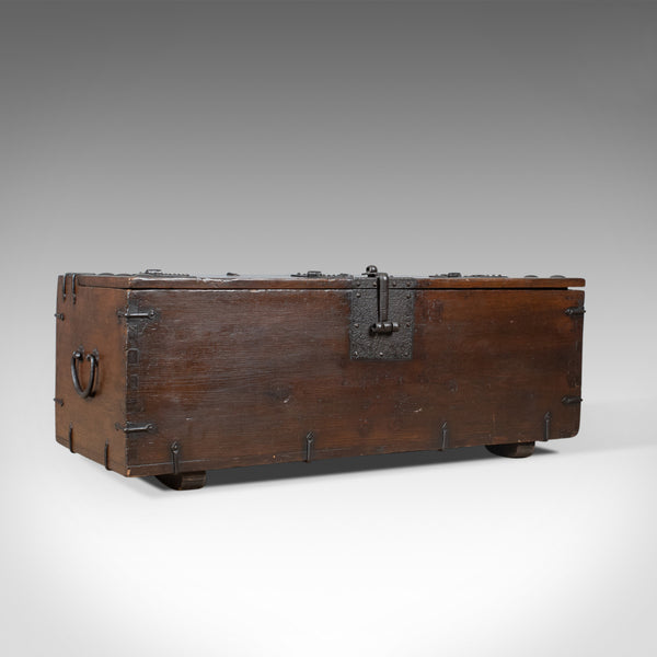 Antique Carriage Chest, English, Victorian, Pitch Pine, Trunk, Circa 1900 - London Fine Antiques