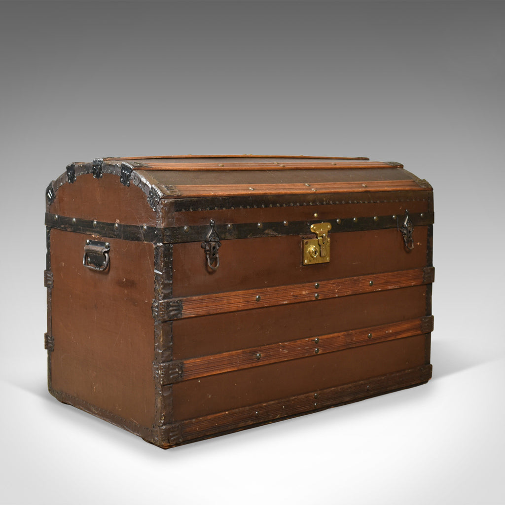 Antique Carriage Chest, Victorian, Dome Topped Trunk, 19th Century Circa 1890 - London Fine Antiques