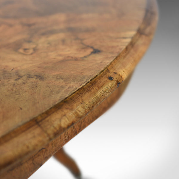 Antique Centre Table, English, Victorian, Circular, Burr Walnut, Tea, Side c1870 - London Fine Antiques