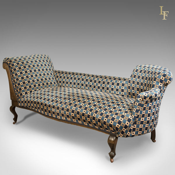Antique Chaise Longue, Edwardian Day Bed, English c.1910 - London Fine Antiques