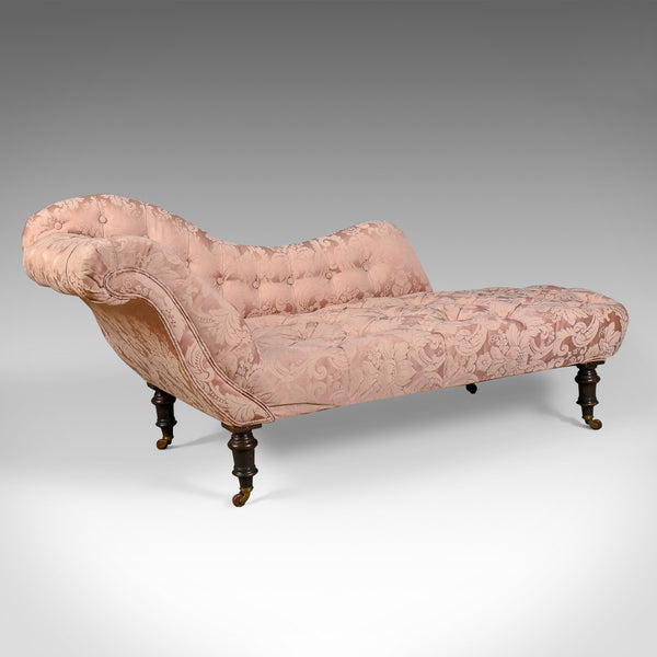 Antique Chaise Longue, English, Victorian, Day Bed, Mahogany Circa 1880 - London Fine Antiques