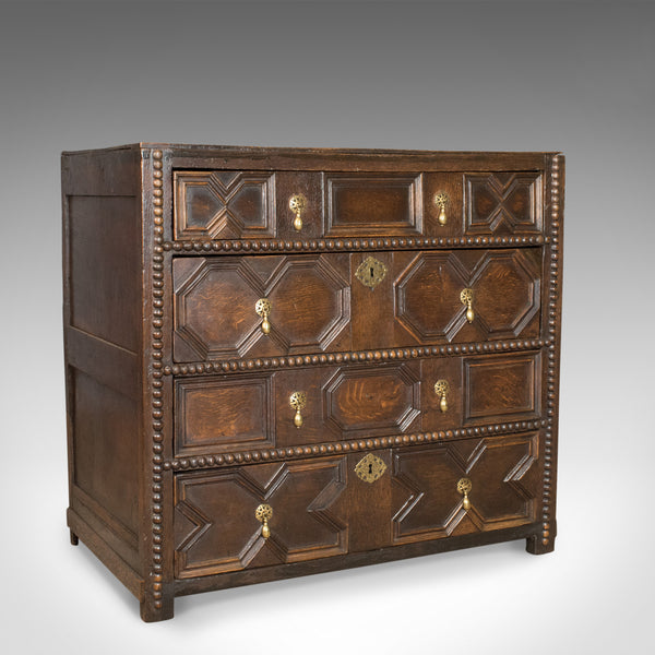 Antique Chest of Drawers, English, Oak, Late 17th Century, Circa 1690 - London Fine Antiques
