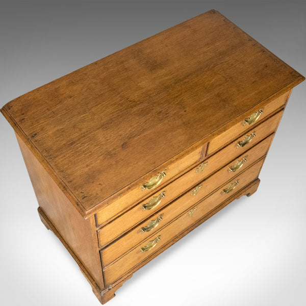 Antique Chest of Drawers, Georgian, English Oak, Circa 1800, Double Depth Drawer - London Fine Antiques