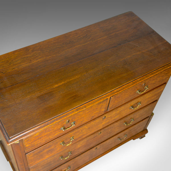 Antique Chest of Drawers, Oak, English, Georgian, Tallboy, 18th Century c.1780 - London Fine Antiques