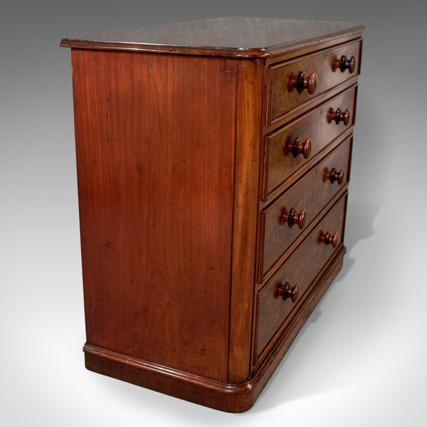 Antique Chest of Drawers, Victorian, Flame Mahogany, English, c. 1880 - London Fine Antiques