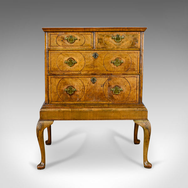 Antique Chest of Drawers on Stand, English, Walnut, Queen Anne, Circa 1700 - London Fine Antiques