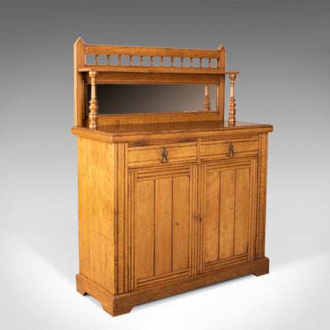 Antique Chiffonier Sideboard, English, Oak, Credenza Buffet Cabinet, Circa 1880 - London Fine Antiques