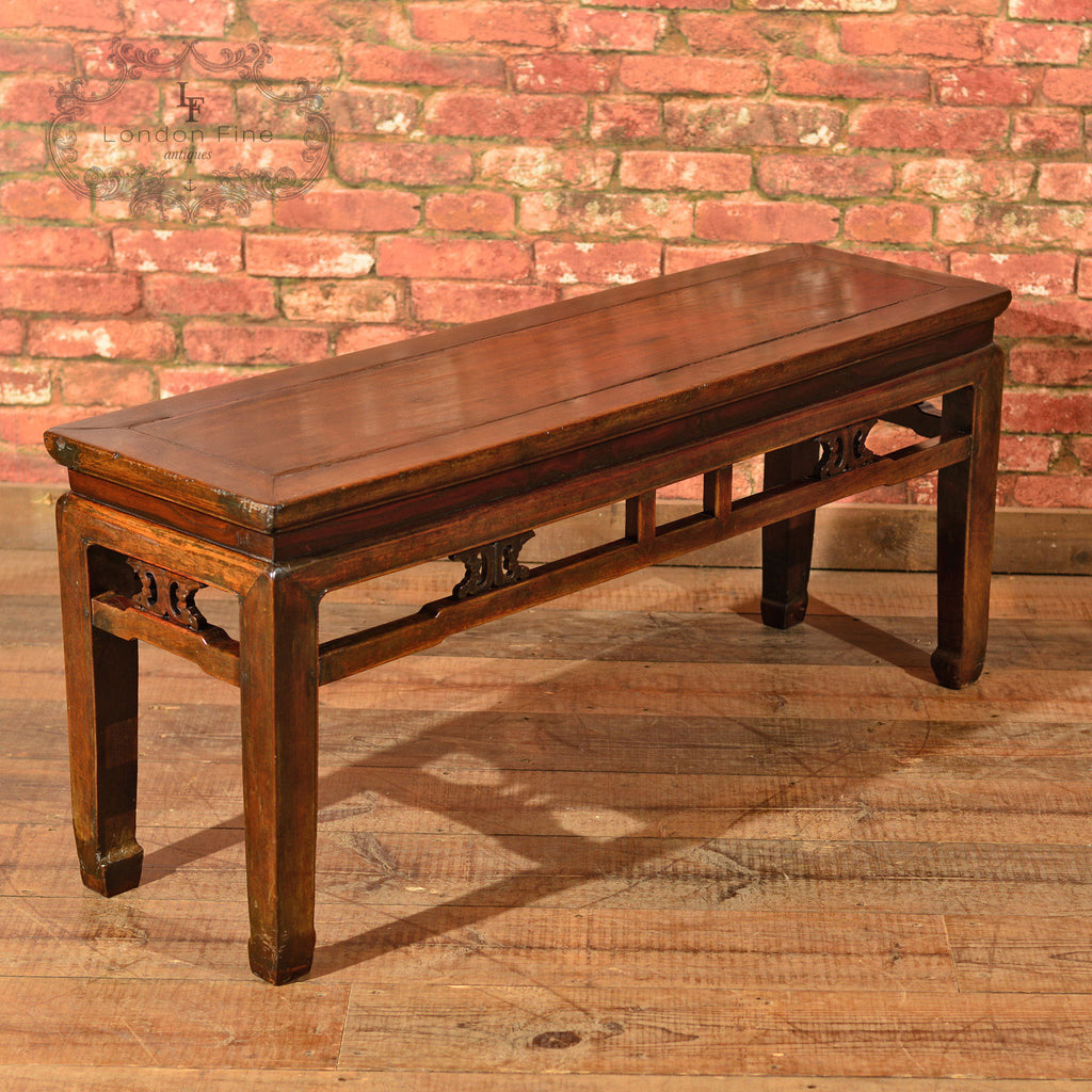 Antique Chinese Bench, c.1900 - London Fine Antiques