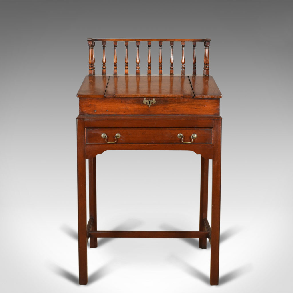 Antique Clerks Writing Desk, English, Victorian, Mahogany Tall Bureau - London Fine Antiques