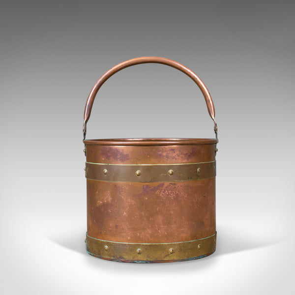 Antique Coal Bucket, English, Victorian, Fireside, Log, Scuttle Circa 1890 - London Fine Antiques