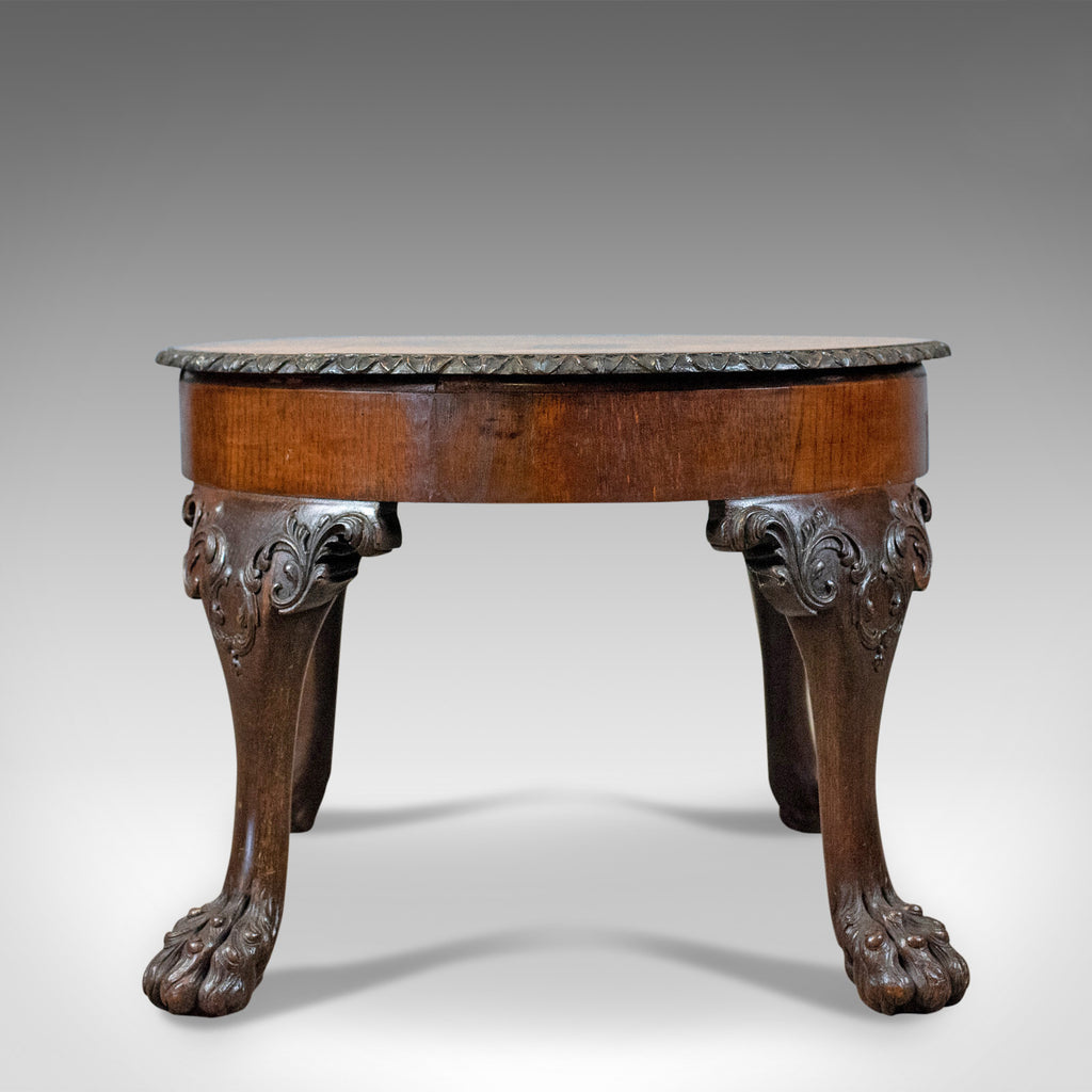 Antique Coffee Table, English, Victorian Side Table, Oak, Marquetry Circa 1870 - London Fine Antiques