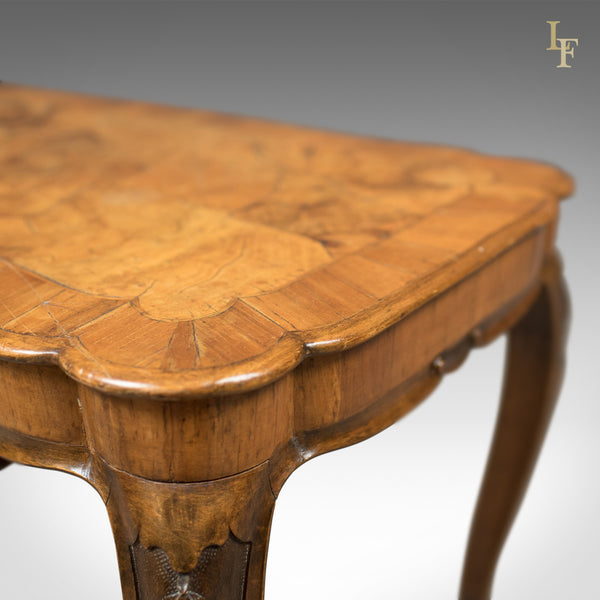 Antique Coffee Table, French, Burr Walnut c.1910 - London Fine Antiques