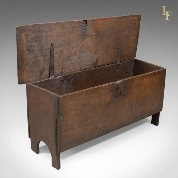 Antique Coffer, English 6 Plank Sword Chest, Oak, Late 17th Century c.1680 - London Fine Antiques