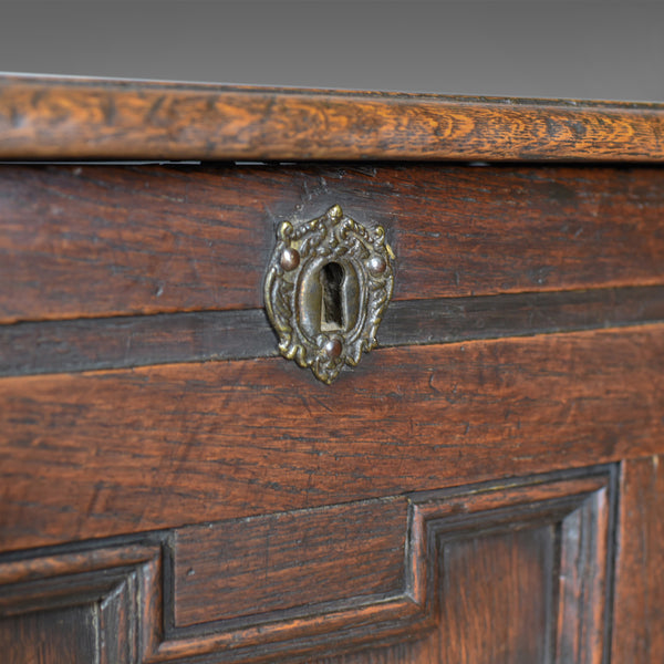 Antique Coffer, English, Georgian, Oak Joined Chest, Mid C18th Trunk Circa 1750 - London Fine Antiques