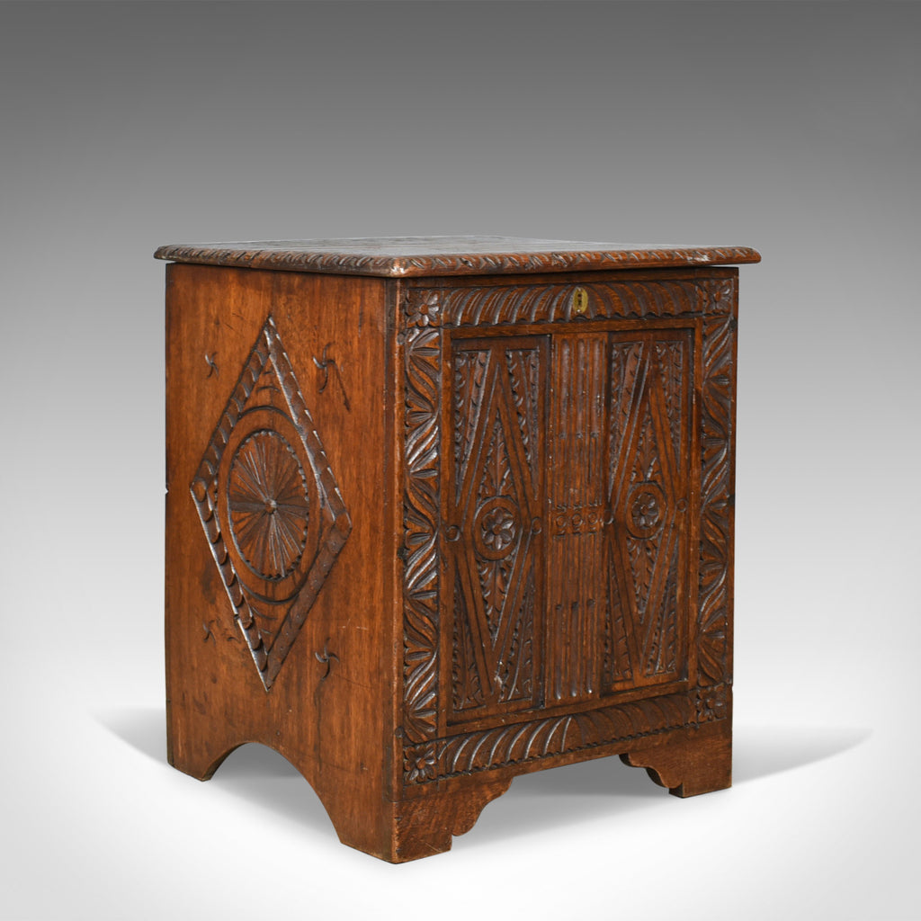 Antique Coffer, English, Oak, Chest, Victorian in Jacobean Taste, Circa 1880 - London Fine Antiques