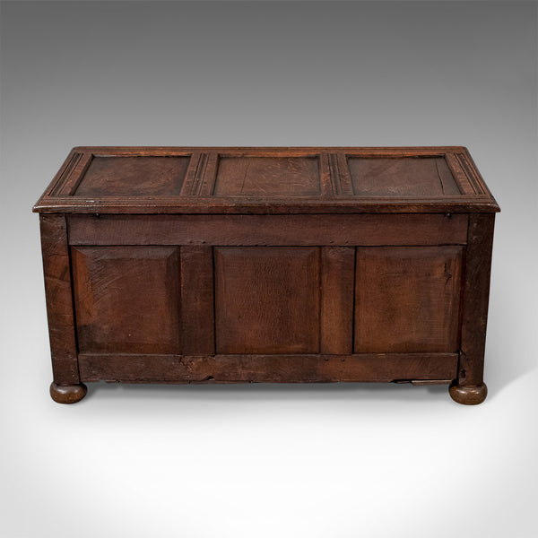 Antique Coffer, English Oak Joined Chest, Queen Anne Circa 1700 - London Fine Antiques