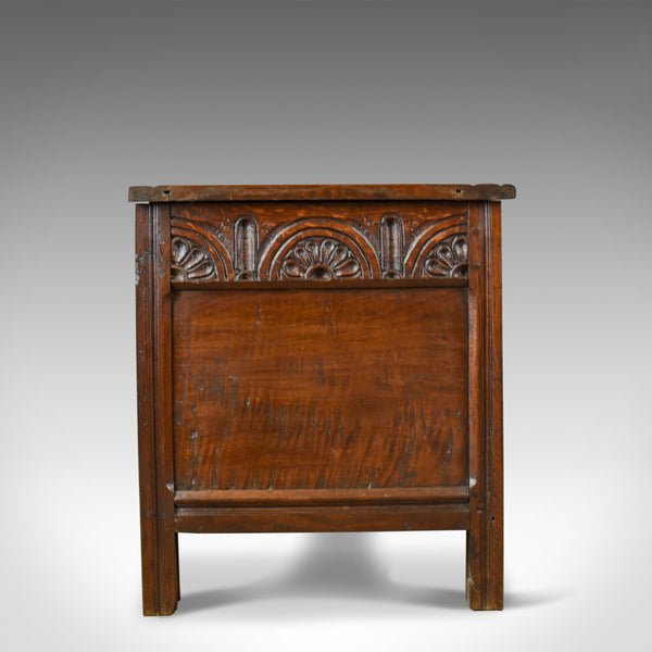 Antique Coffer, English Oak Joined Chest, William III, Queen Anne, Circa 1700 - London Fine Antiques