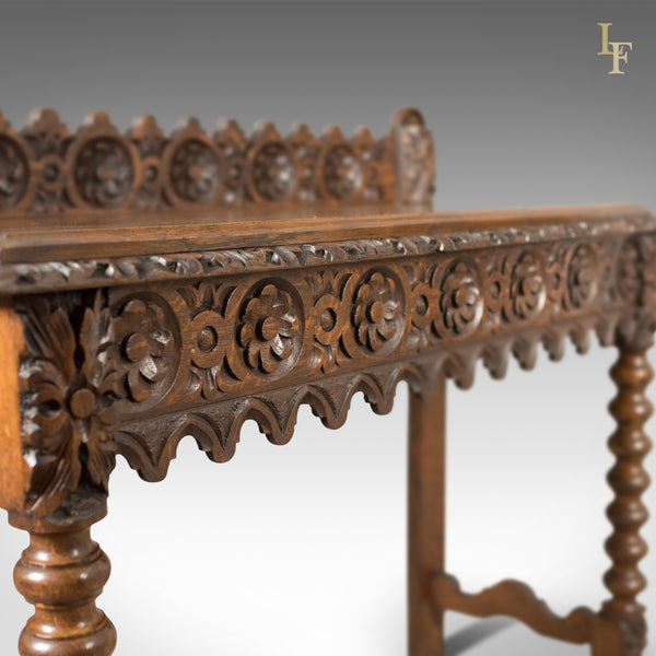Antique Console Table, C19th Scottish Carved Oak - London Fine Antiques