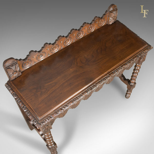 Antique Console Table, C19th Scottish Carved Walnut - London Fine Antiques