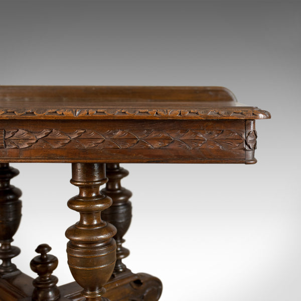Antique Console Table, English, Oak, Victorian, Side, 19th Century, Circa 1880 - London Fine Antiques