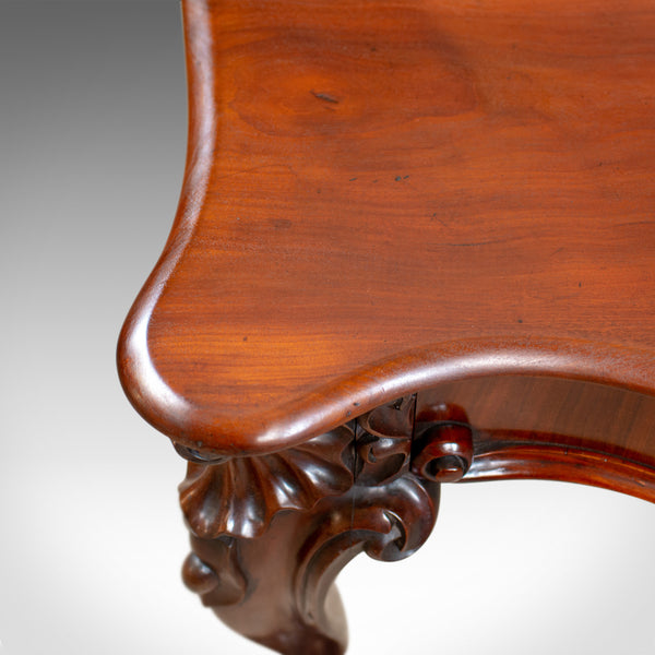 Antique Console Table, English Victorian Mahogany Serving Circa 1860 - London Fine Antiques