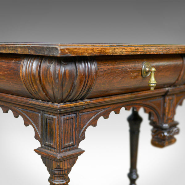 Antique Console Table, Irish, Oak, Side, Carved, Late 19th Century, Circa 1880 - London Fine Antiques