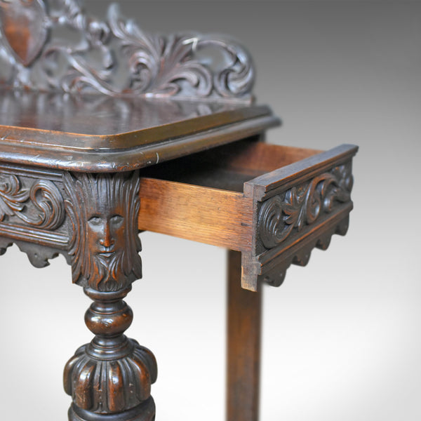 Antique Console Table, Mid 19th Century, Scottish, Oak, Carved, Side, Circa 1860 - London Fine Antiques