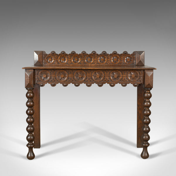 Antique Console Table, Scottish, Oak, Carved, 19th Century Circa 1890 - London Fine Antiques