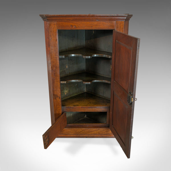 Antique Corner Cabinet, English, Georgian, Mahogany, Cupboard, Circa 1800 - London Fine Antiques