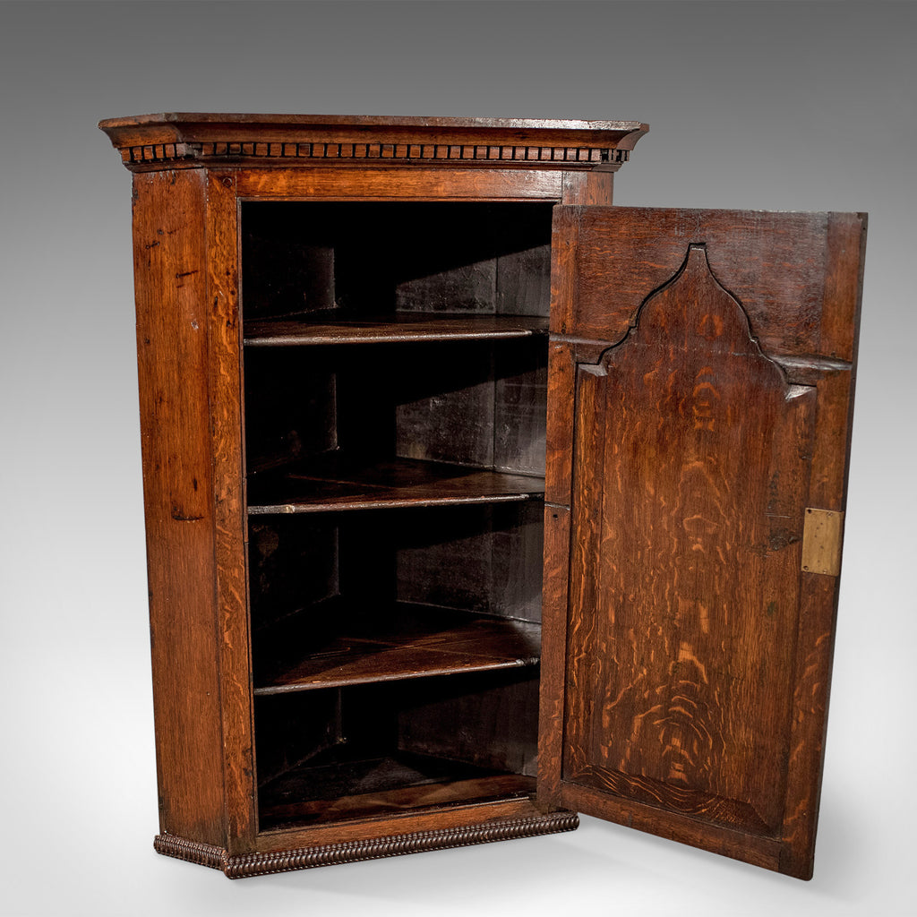 ... Antique Corner Cabinet, English, Oak, Late Georgian, Hanging Cupboard  Circa 1780 ... - Antique Corner Cabinet, English, Oak, Late Georgian, Hanging