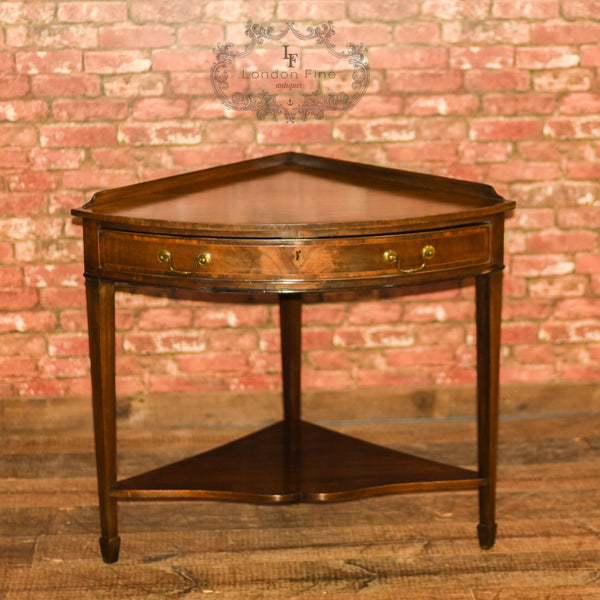 Edwardian Corner Table, C18th Revival, c.1910 - London Fine Antiques - 3