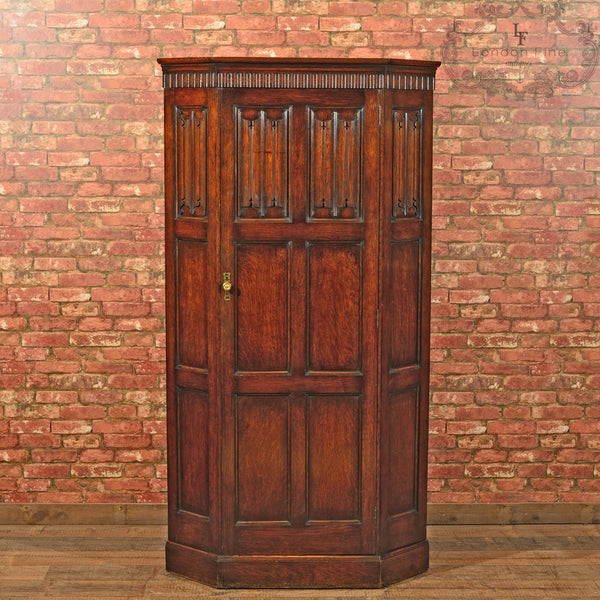 Edwardian Corner Wardrobe, Waring & Gillow, c.1910 - London Fine Antiques