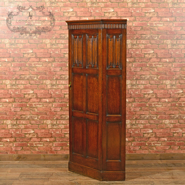 Edwardian Corner Wardrobe, Waring & Gillow, c.1910 - London Fine Antiques - 3