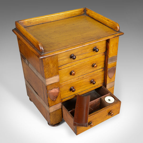 Antique Correspondence Cabinet, Scottish, Victorian, Oak, Specimen Chest c.1850 - London Fine Antiques