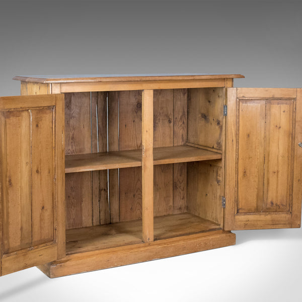Antique Cupboard, English, Victorian, Kitchen Cabinet, Pine, Yew, Circa 1880 - London Fine Antiques