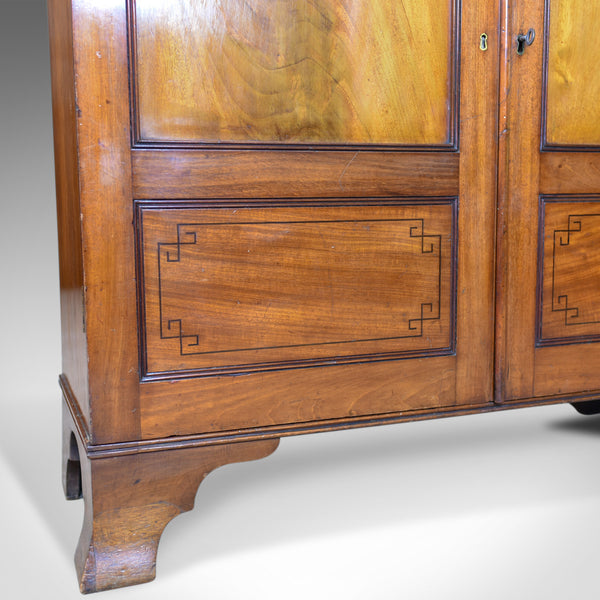 Antique Cupboard, Victorian, Flame Mahogany, Walnut, Cabinet, Circa 1870 - London Fine Antiques
