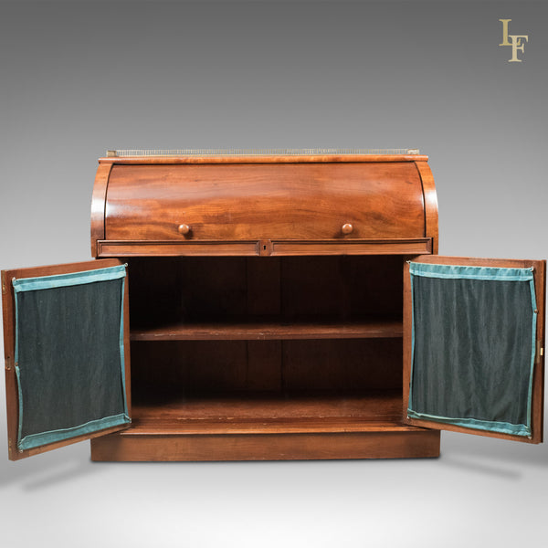 Antique Cylinder Bureau Writing Desk, Victorian, English, Mahogany c.1850 - London Fine Antiques