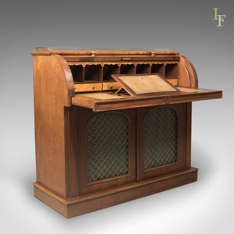 Antique Cylinder Bureau Writing Desk, Victorian, English, Mahogany c.1850 -  London - Antique Library Furniture – Page 2 – London Fine Antiques