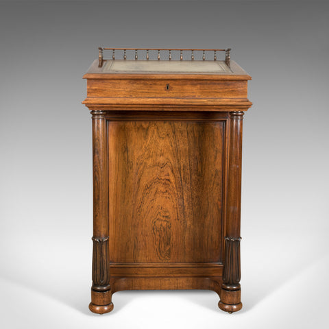 Antique Davenport, Burrey & White, Rosewood, Desk, William IV, Circa 1835