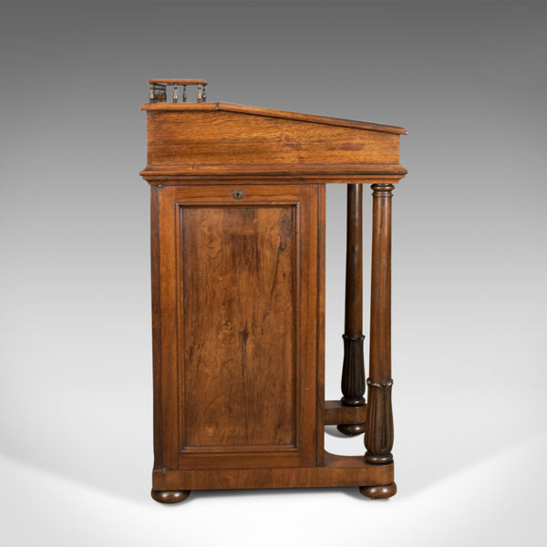 Antique Davenport, Burrey & White, Rosewood, Desk, William IV, Circa 1835 - London Fine Antiques