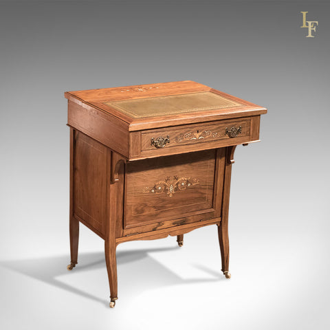 Antique Davenport, Edwardian Tilt Top Desk - London Fine Antiques