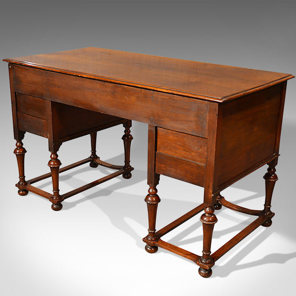 Antique Desk, English, Walnut, Writing Table, Victorian Circa 1900 - London Fine Antiques