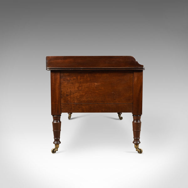 Antique Desk, Large, English, William IV, Mahogany, Kneehole, Circa 1835 - London Fine Antiques