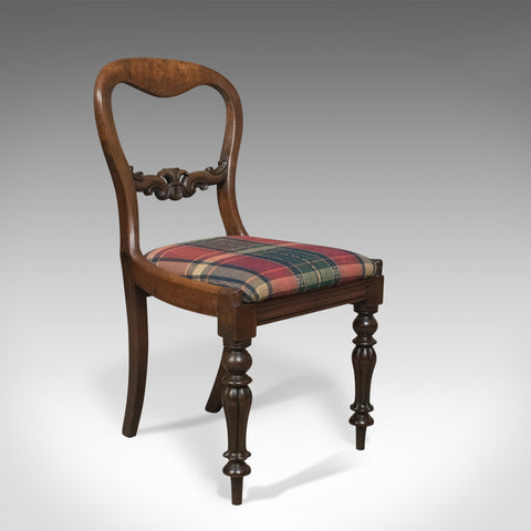 Antique Dining Chair, English, Buckle Back, Mahogany Circa 1835