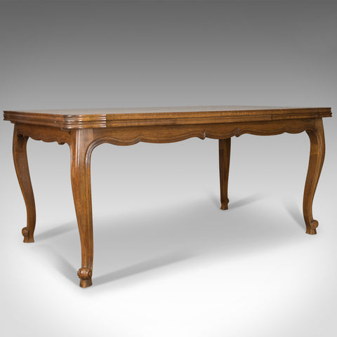 Antique Dining Table, Draw Leaf, Extending, French Parquet Seats Ten Early C20th - London Fine Antiques
