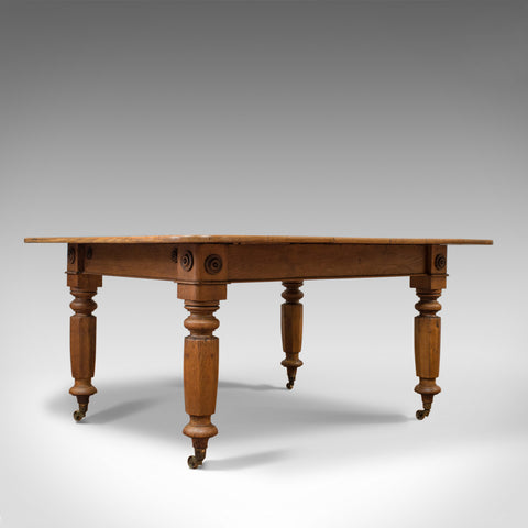 Antique Dining Table, English, Victorian, Oak, Country Kitchen, Seats Six, c1880 - London Fine Antiques