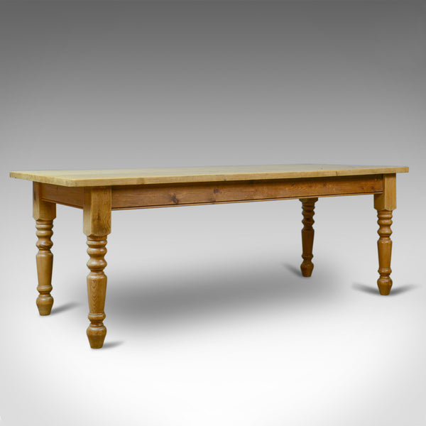Antique Dining Table, English, Victorian, Pine, Seating 8-10, Country, c1900 - London Fine Antiques